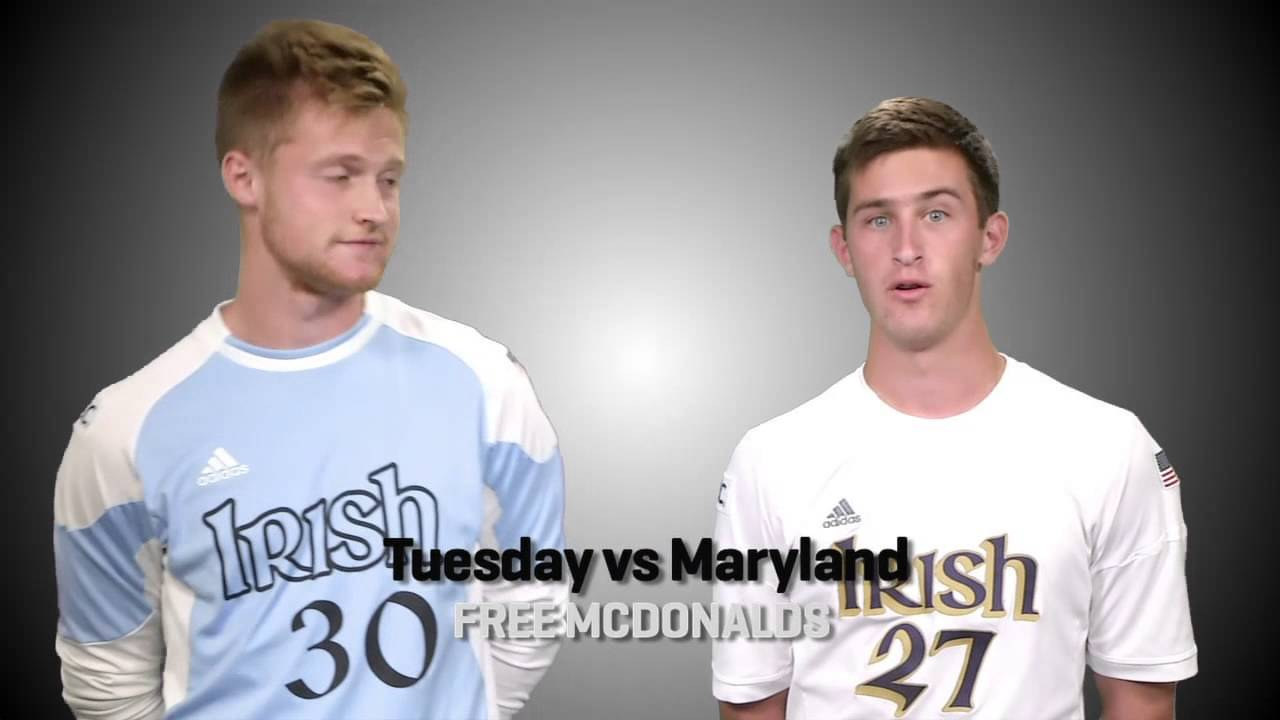 Fighting Irish Men's Soccer vs Maryland Promo