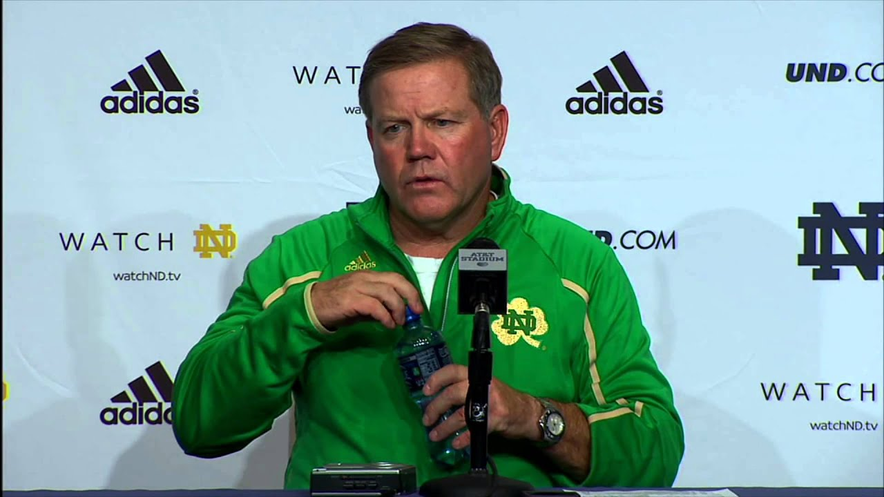 Brian Kelly Arizona State Post-Game Press Conference - Notre Dame Football