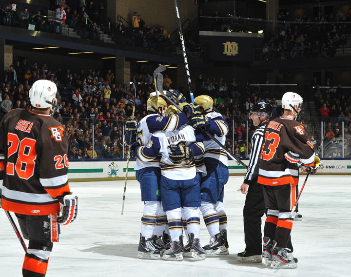 Notre Dame faces Alabama Huntsville at 7:35 p.m. on Friday in game two of the Shillelagh Tournament.