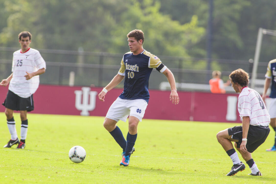 Dillon Powers played in 78 matches and tallied 10 goals and 22 assists during his Fighting Irish career (2009-12).