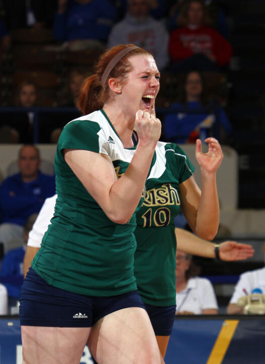 Senior Andie Olsen's passion and intensity for the sport of volleyball is often seen on the court.