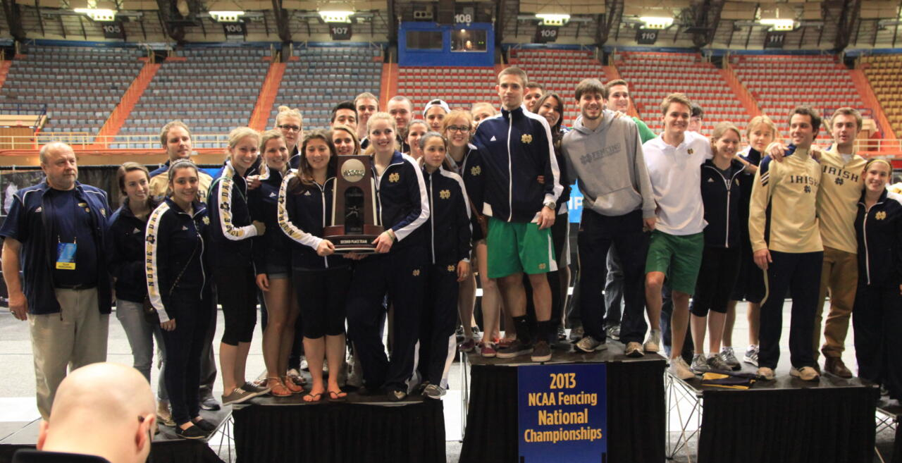 At the 2013 NCAA Championships in San Antonio, Texas, Notre Dame's fencing team claimed second place. In 2014, the goal is to claim first.