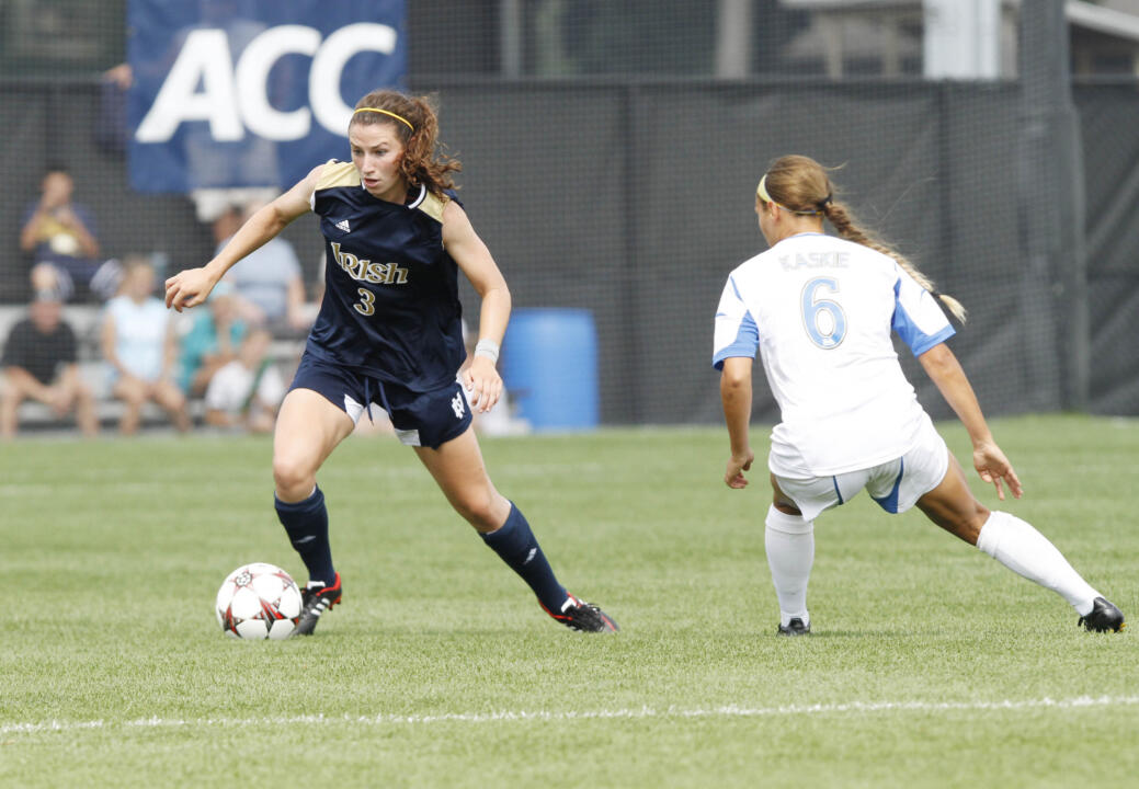 Notre Dame's underclassmen (freshmen and sophomores) have accounted for 22 of the team's 39 goals (including six match-winners) this season, led by five goals from rookie midfielder Morgan Andrews.