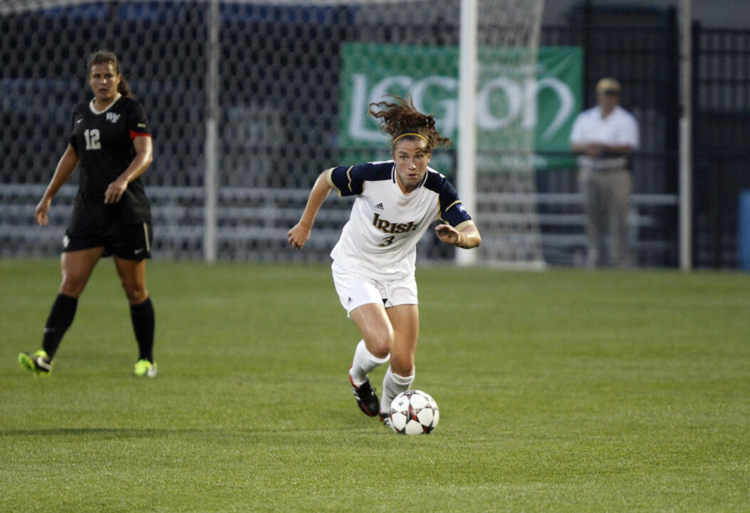 Freshman midfielder Morgan Andrews became the first Notre Dame player with a multi-goal game during the NCAA tournament since 2010 in last Friday's 4-1 win over Iowa at Alumni Stadium