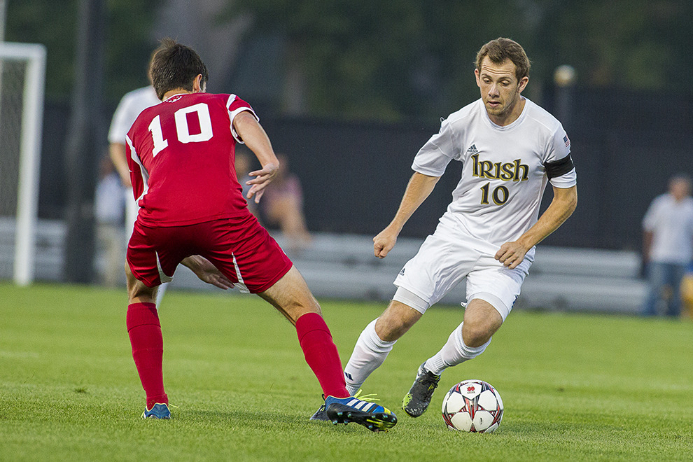 Harrison Shipp's two tallies tied a Notre Dame record for goals scored in an NCAA tournament game.