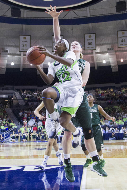 Sophomore guard Jewell Loyd has scored 41 points in Notre Dame's first two games, the most by a Fighting Irish player in her first two outings of a season since 2000-01, when Alicia Ratay had a combined 46 points against Valparaiso and Arizona.