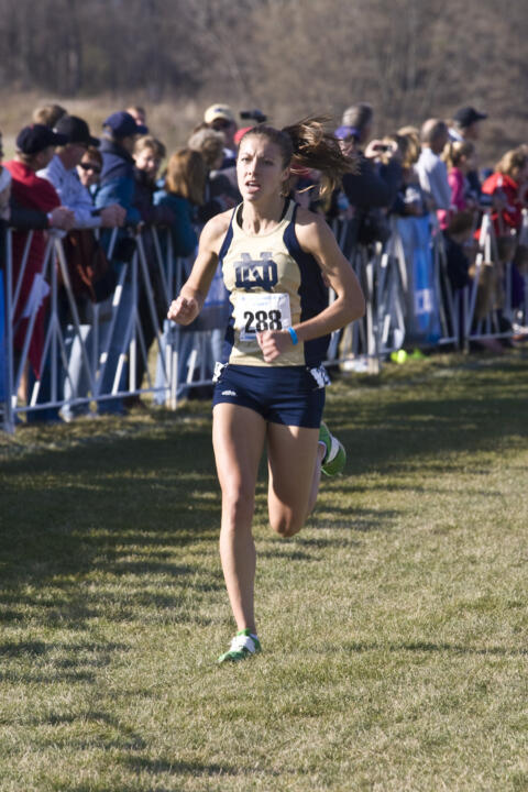Senior Kelly Curran finished third at the Great Lakes Regional Championships.
