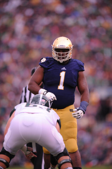 Notre Dame defensive lineman Louis Nix III.