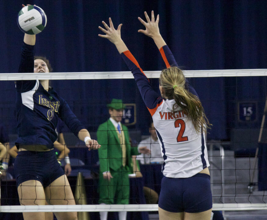 Senior Nicole Smith had career highs with 17 kills and seven digs in a 3-1 win over Boston College Friday afternoon.