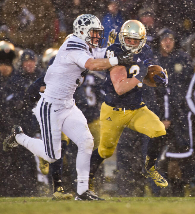 Running back Cam McDaniel rushed for a career-high of 117 yards against BYU on Saturday.