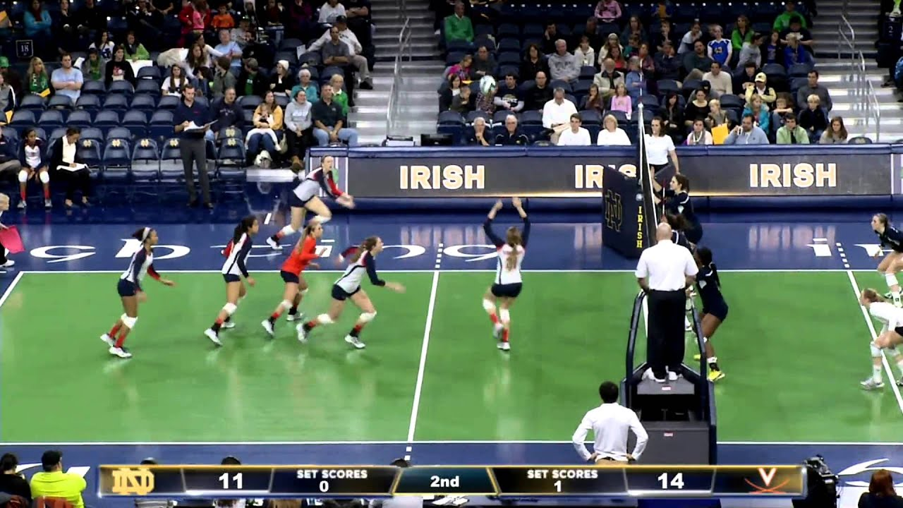 Irish 0, Cavaliers 3 - Notre Dame Volleyball