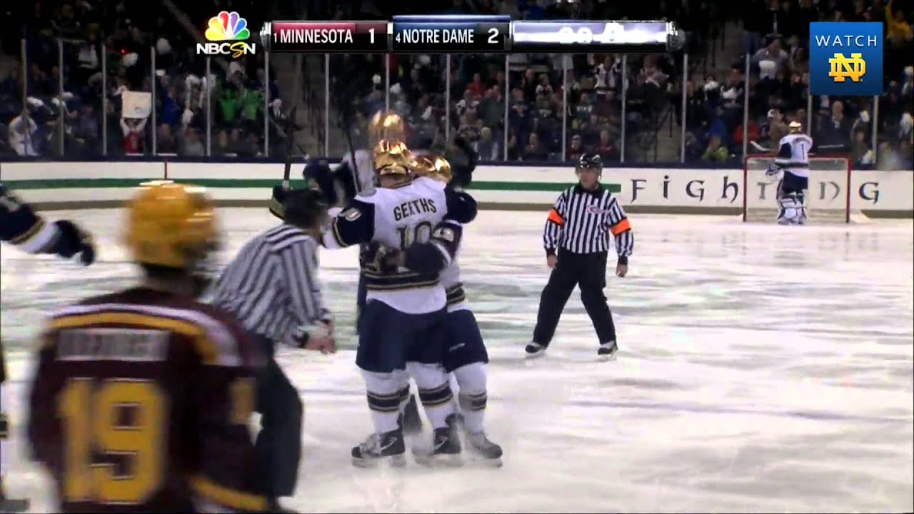 Irish 4, Golden Gophers 1 - Notre Dame Hockey