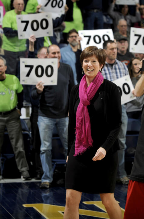 Notre Dame head women's basketball coach Muffet McGraw will be inducted into the Indiana Basketball Hall of Fame and receive the Hall's Silver Medal during enshrinement ceremonies in April 2014.