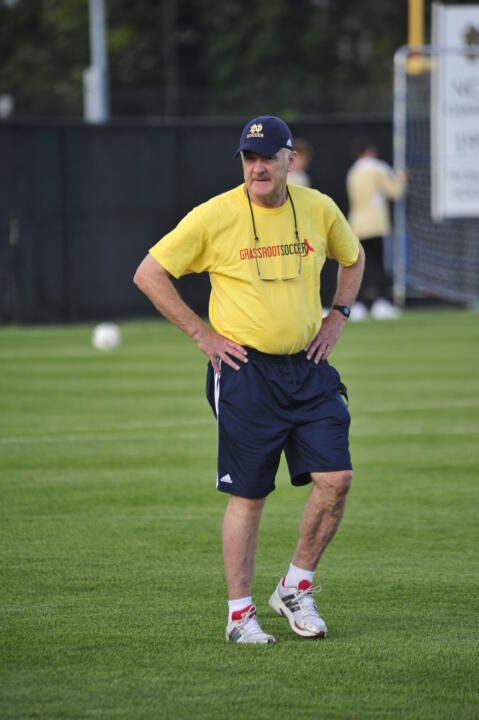 Bobby Clark, now in his 13th season as the Notre Dame men's soccer coach, always has loved the simple teaching of the game.