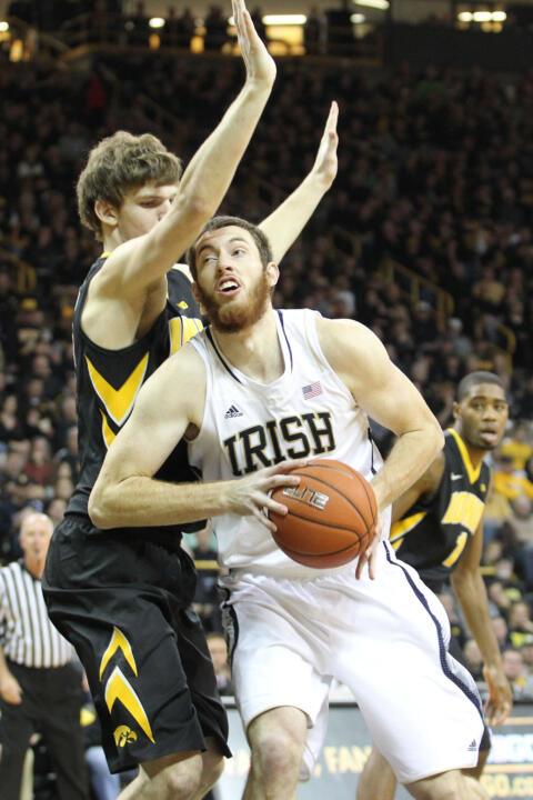 Senior center Garrick Sherman scored a career-high 29 points in Tuesday's setback at Iowa.
