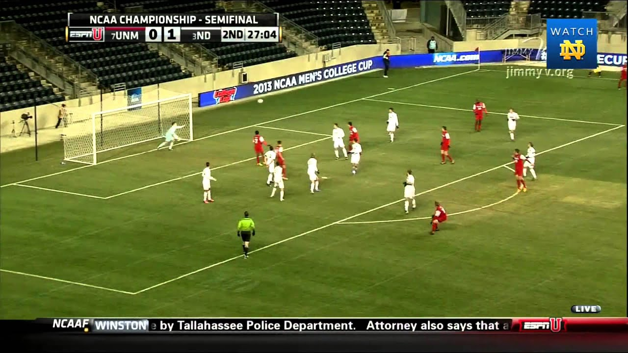 Notre Dame vs New Mexico Men's Soccer NCAA Semifinal Highlights