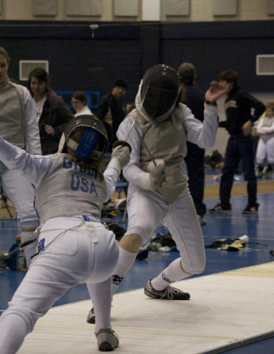Junior women's foilist Madison Zeiss finished in sixth place in the Virginia Beach NAC Competition Monday.