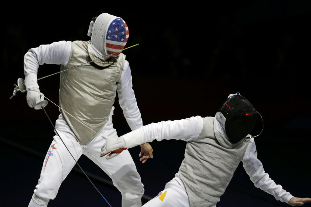 2008 and 2012 Olympian Gerek Meinhardt, currently the No. 1 men's foilist in the world, finished third at the Paris Foil World Cup.