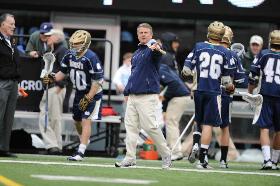 Head coach Kevin Corrigan has led the Irish to eight straight NCAA tournament appearances.