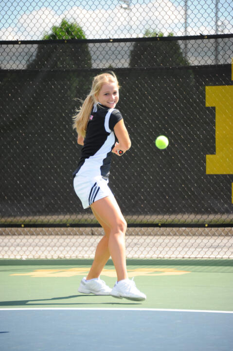 Freshman Monica Robinson is ranked No. 26 in doubles with senior Jennifer Kellner to start the season.