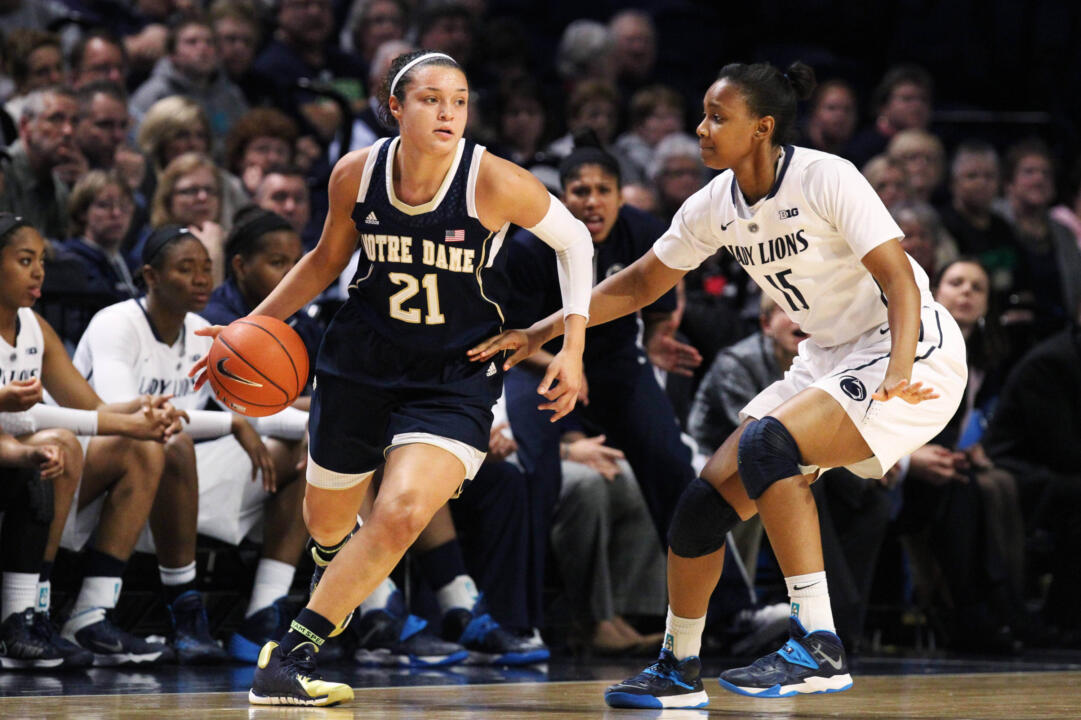 Senior guard/tri-captain Kayla McBride scored a game-high 20 points and grabbed eight rebounds in Notre Dame's 70-58 win at Oregon State on Sunday.