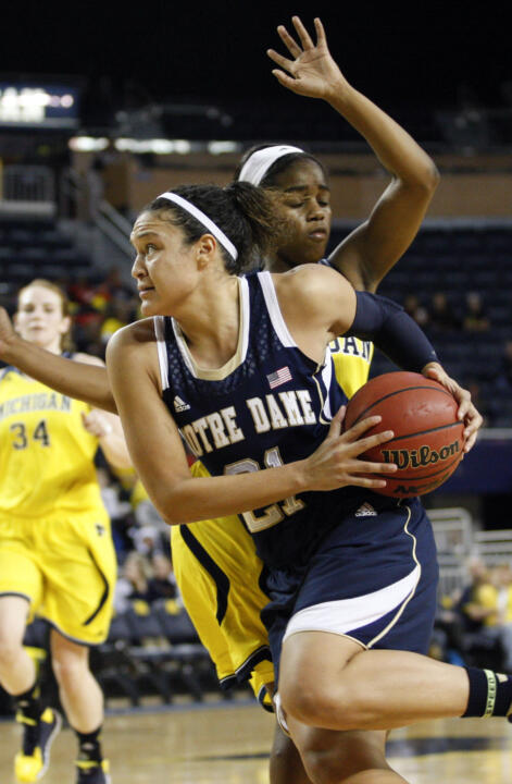 Kayla McBride scored a game-high 18 points on a perfect 8-for-8 shooting (the fourth-best field goal percentage in school history), as Notre Dame defeated South Dakota State, 94-51 on Thursday night at Purcell Pavilion. (File photo)