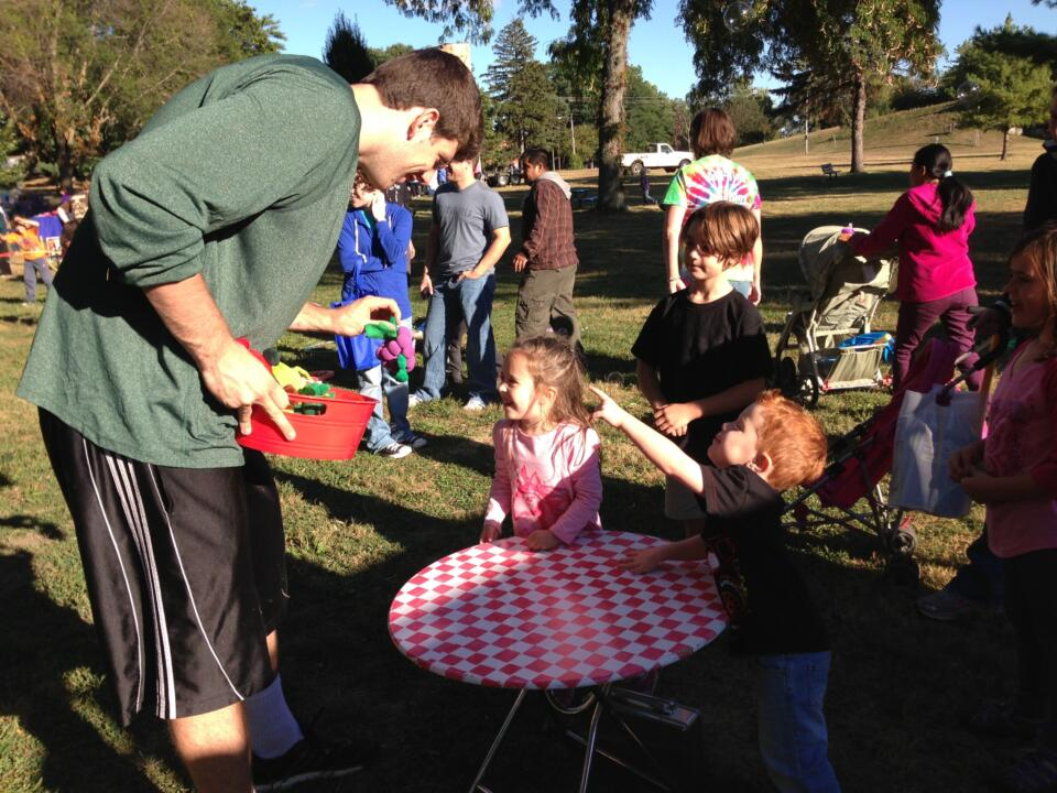 Graduate student Tom Knight volunteered at a ROC event this fall.