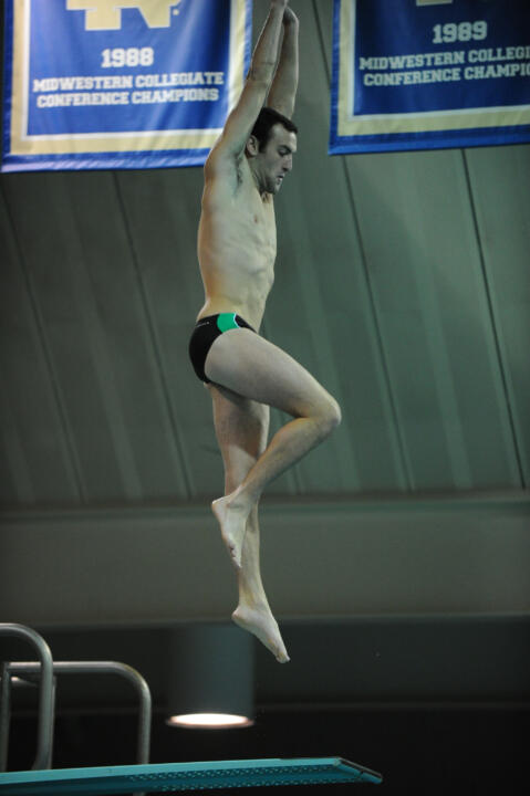 Junior Nick Nemetz scored 349.35 points to win the 3-meter diving event at No. 7 Louisville on Friday