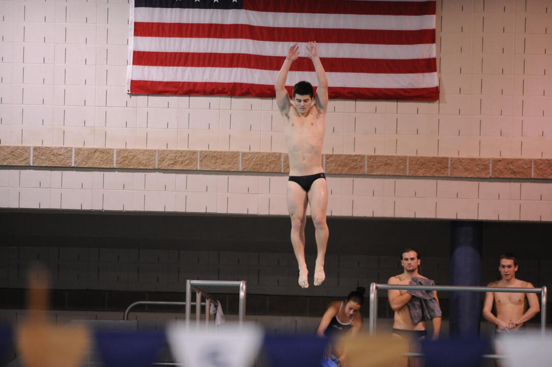 Freshman Joe Coumos swept the 1 and 3-meter diving events on Jan. 11 at Northwestern