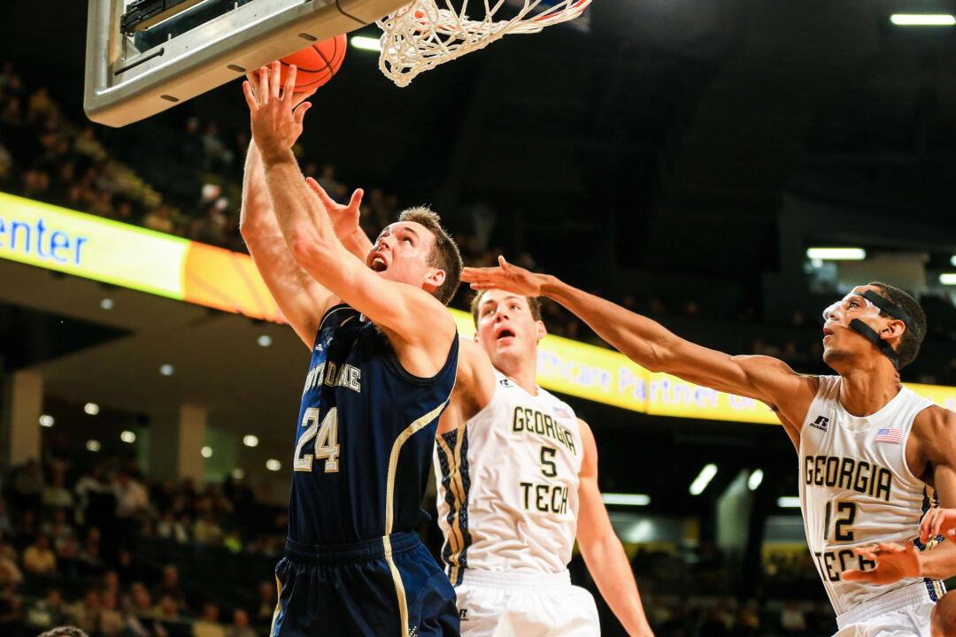 Junior Pat Connaughton is averaging 13.7 points, 7.7 rebounds and 4.7 assists in ACC play.
