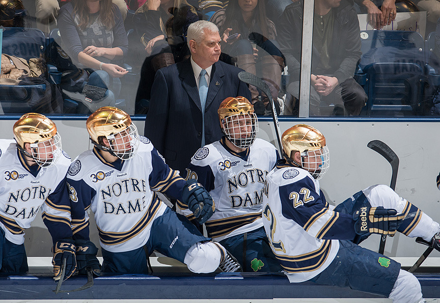 Irish head coach Jeff Jackson will look to get Notre Dame back on track in the second game of the series with Northeastern.