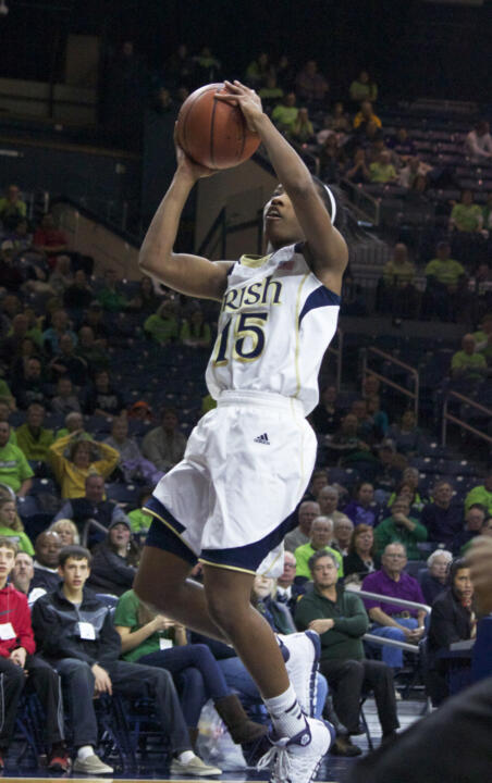 Freshman guard Lindsay Allen scored a season-high 16 points and added a game-high five assists in Notre Dame's 79-52 win over Miami Thursday night.