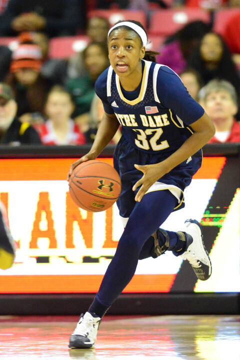 Jewell Loyd set new career highs with 31 points and six assists in Monday's 87-83 win at No. 8/6 Maryland.