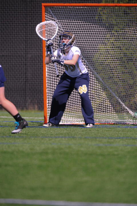 Junior Allie Murray is competing to be Notre Dame's top goalkeeper this spring.