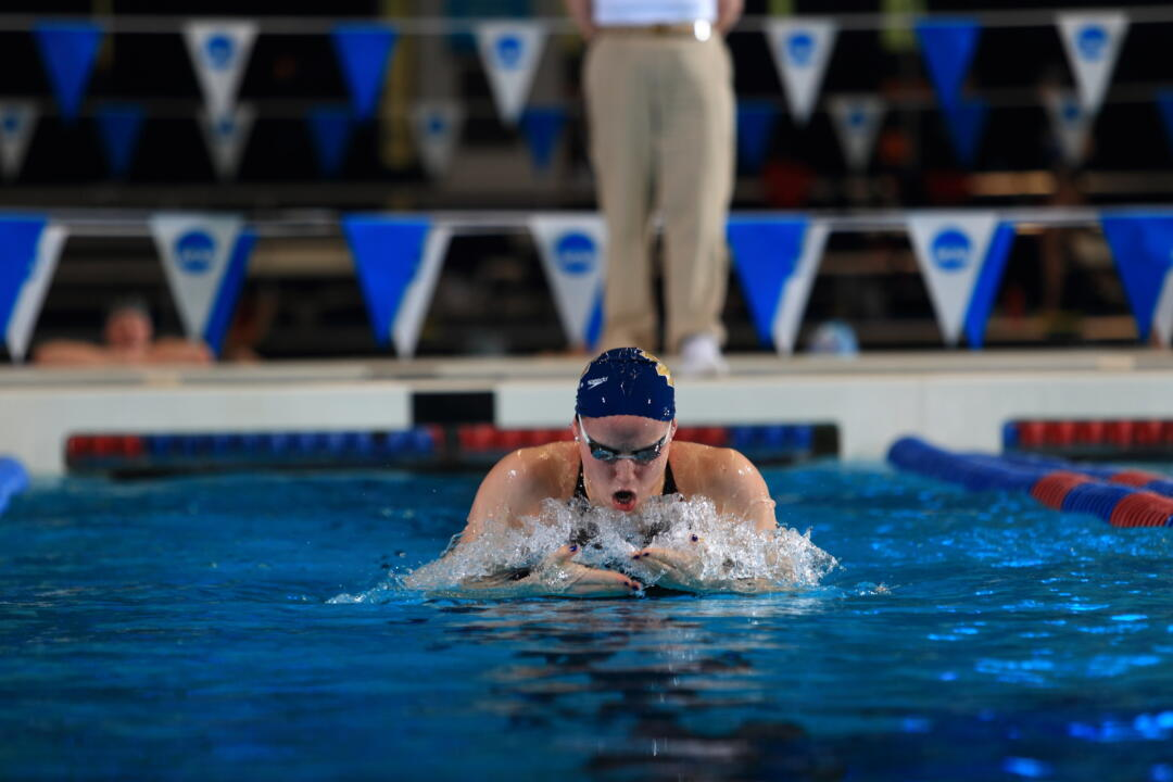 Junior Emma Reaney broke the American record in the 200-yard breaststroke Saturday night with a time of 2:04.34.
