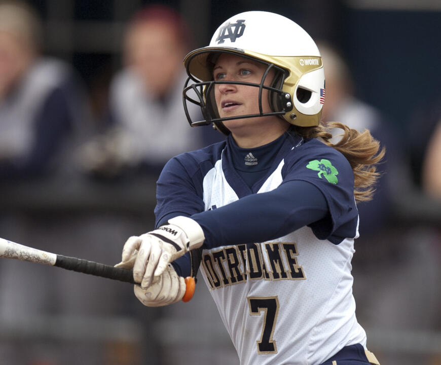 Infielder Jenna Simon was one of seven Notre Dame players to earn all-BIG EAST accolades in Notre Dame's final season as a league member in 2013