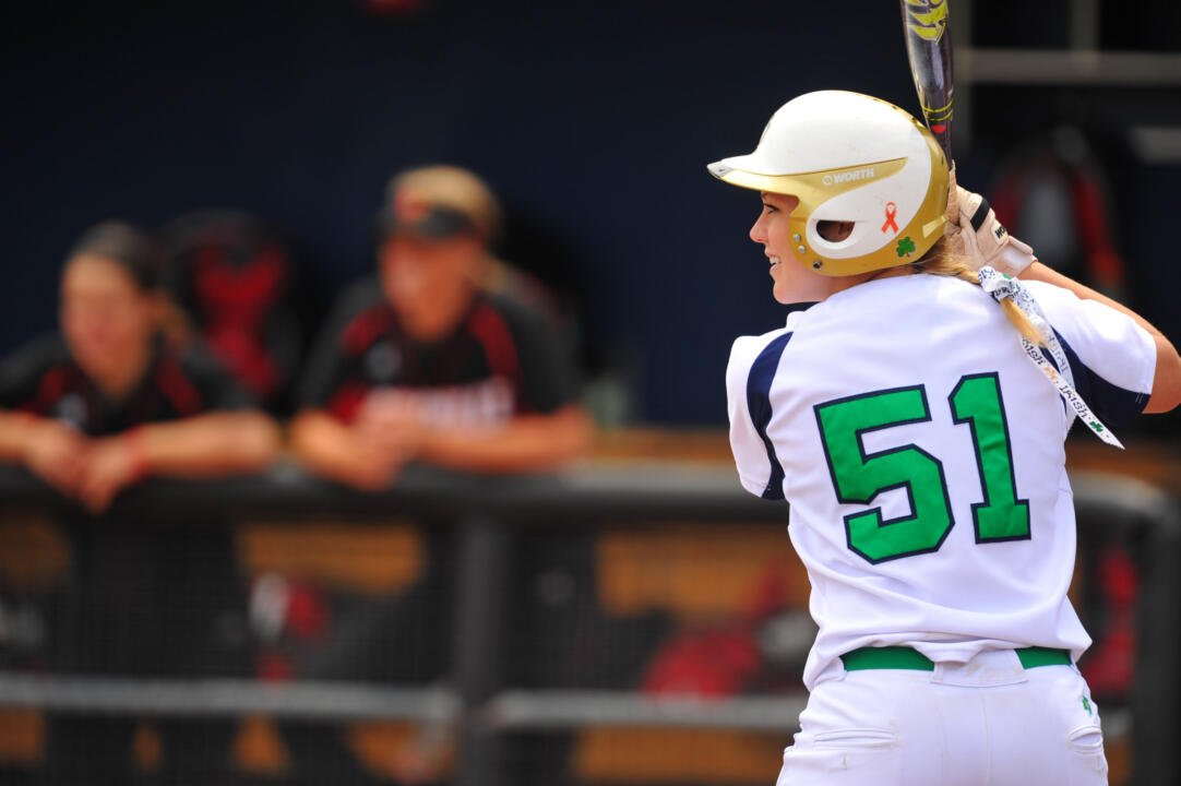 Junior catcher Cassidy Whidden hit a three-run home run in her first at-bat of the season, and first since returning from injury, in Notre Dame's 9-1 win over Tennessee Tech