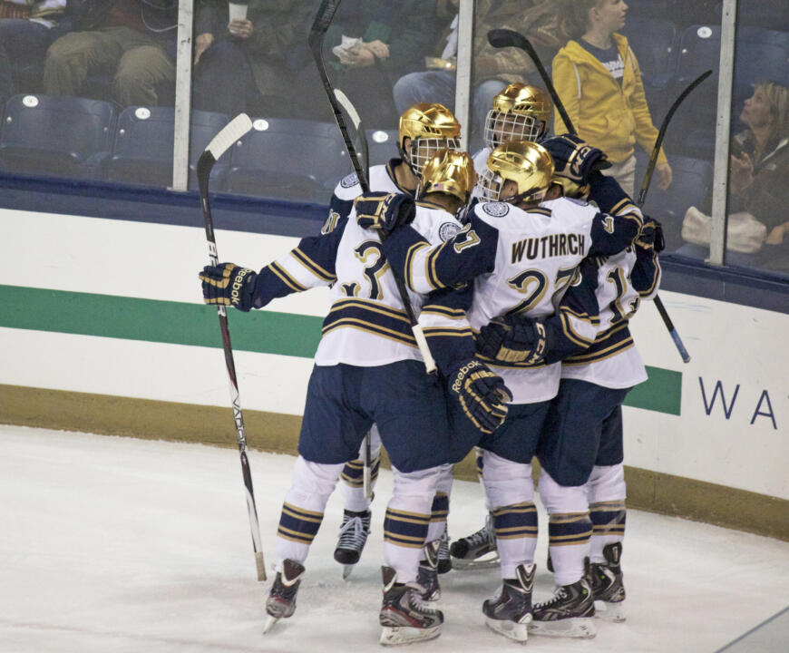 The Irish will open the Hockey East playoffs with a single-elimination, first round game on Saturday, March 8 at 7:05 p.m. against an opponent yet to be determined.  Tickets are now on sale for this important playoff game.