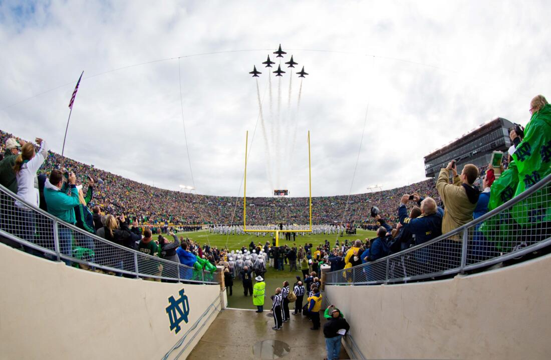 ND will play six games this fall at Notre Dame Stadium against teams that went a combined 52-26 in 2013.