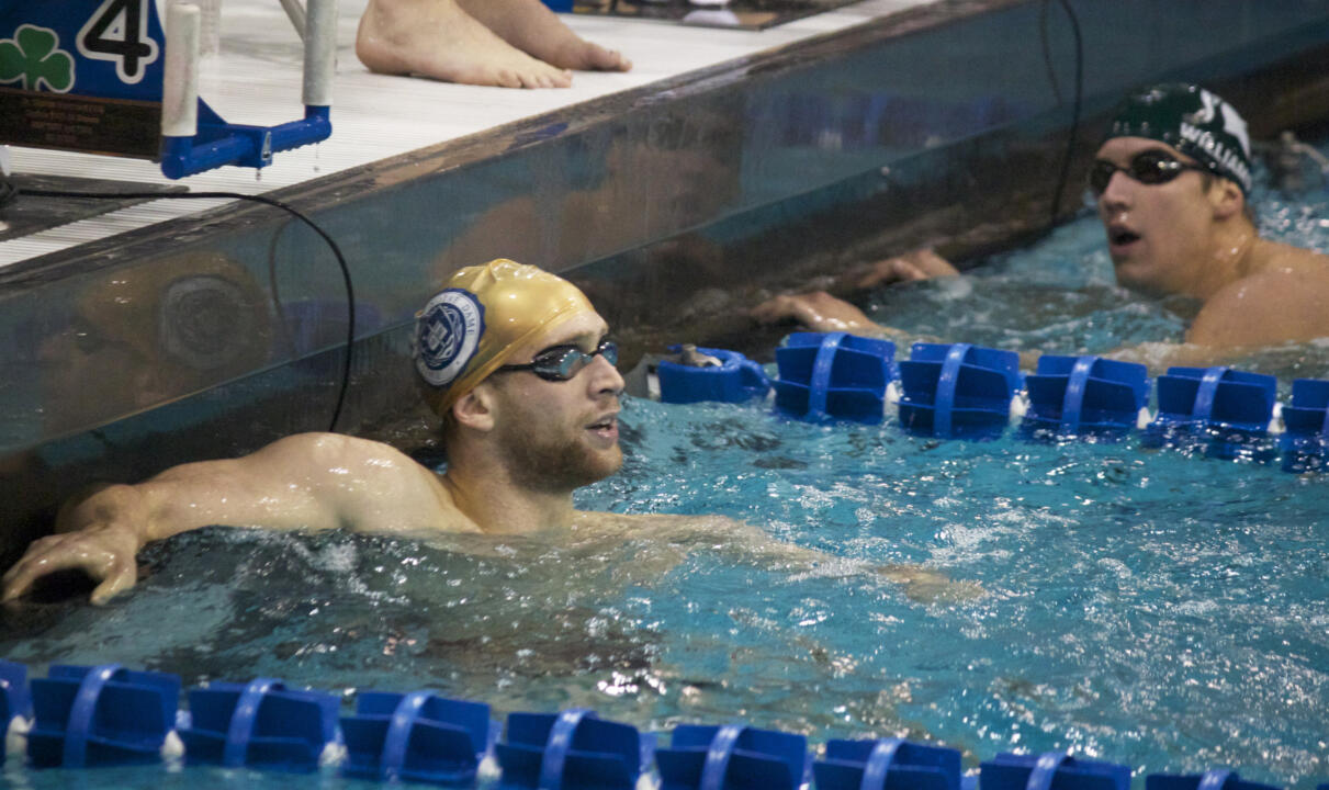 Junior John Williamson swam the second fastest 200 Butterfly time (1:44.18) in the ACC during the regular season