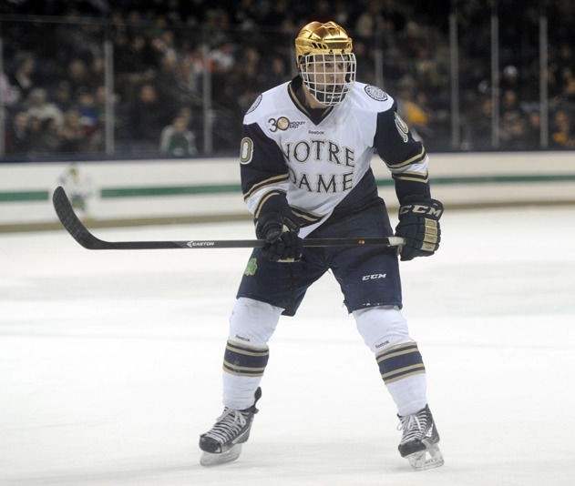 Senior David Gerths scored his first goal of the season and the game winner in Notre Dame's 3-0 win over Providence College.
