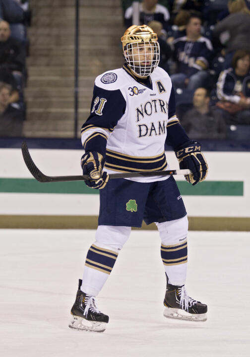 Bryan Rust scored two goals in 24 seconds in the final 1:08 of the game to give Notre Dame a 3-2 win over Maine.