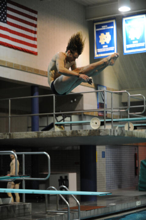 Junior Michael Kreft scored 334.55 points to finish 13th in the 1-meter dive on Friday at the ACC Championships