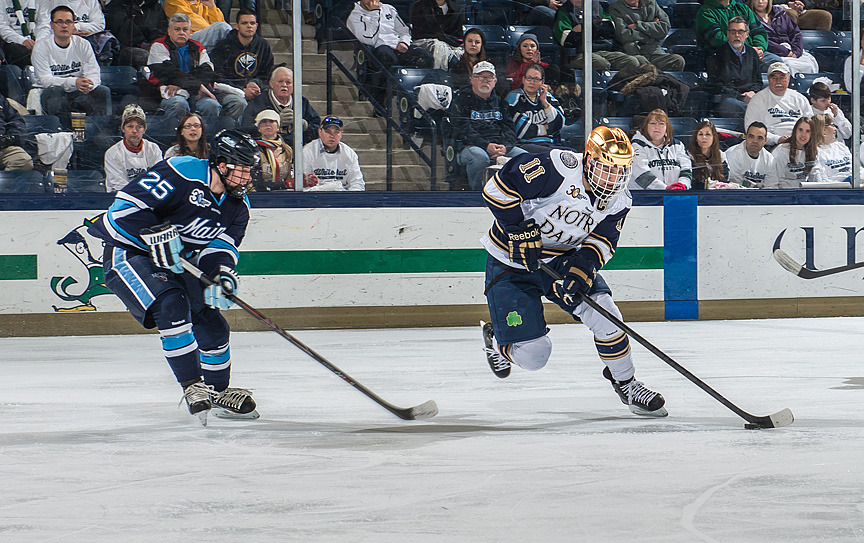 Senior Jeff Costello got Notre Dame's lone goal in the 2-1 loss to Maine.