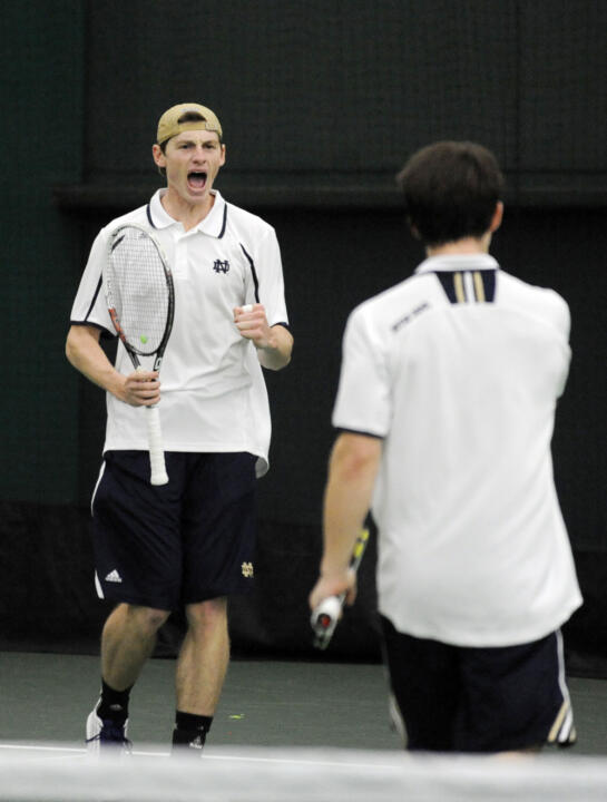 Sophomore Alex Lawson (left) and senior Greg Andrews (right), ranked 17th in the country as a doubles team.