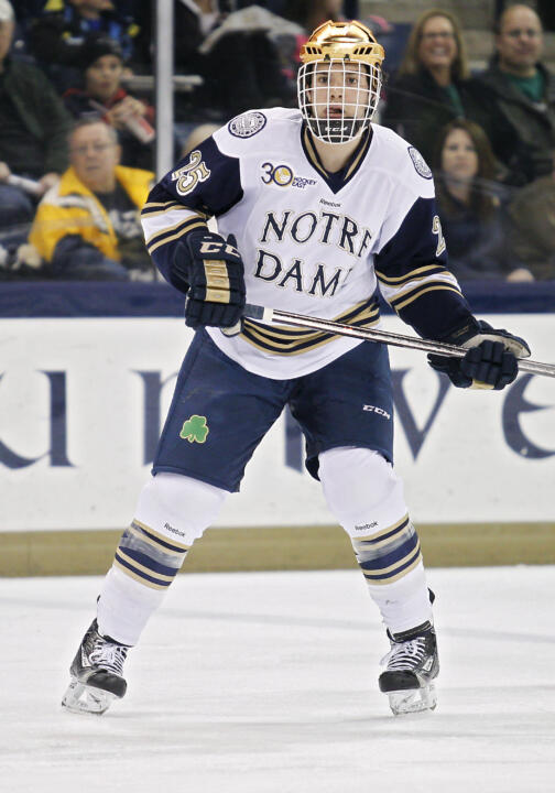 Senior defenseman Kevin Lind leads the Irish in blocked shots (75) and is second among Hockey East players.