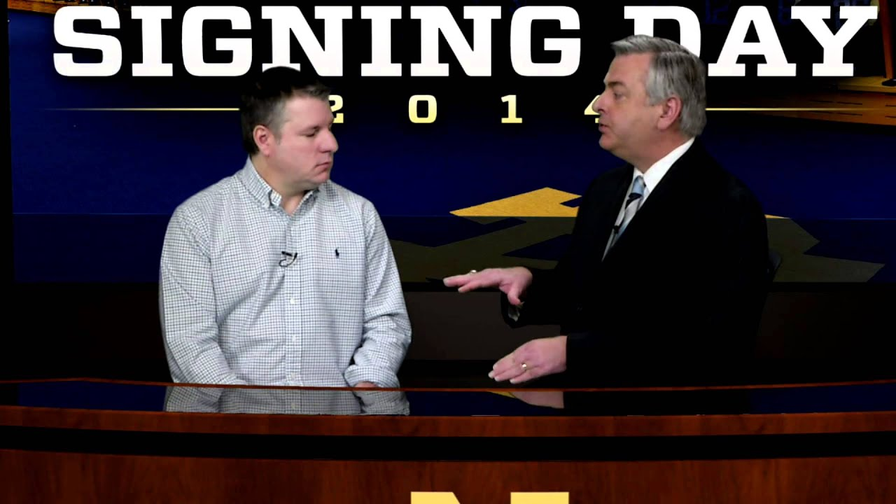 Mike Frank on WatchND Signing Day Show
