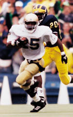 "Raghib ""Rocket"" Ismail was a two-time first-team All-American."