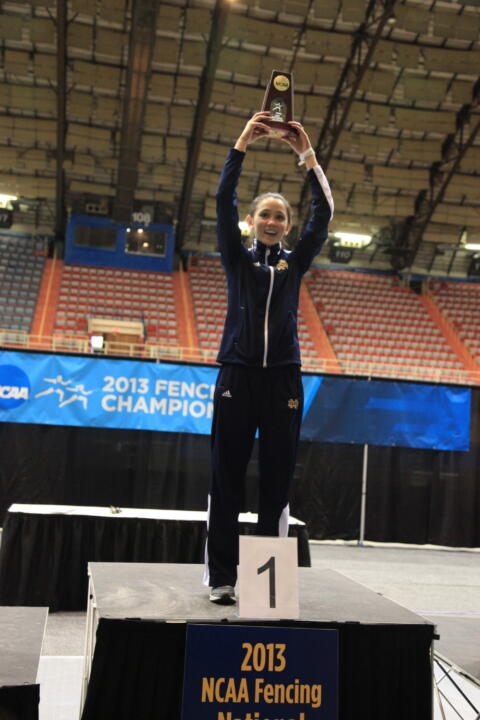 Lee Kiefer, 2013 women's foil NCAA Champion