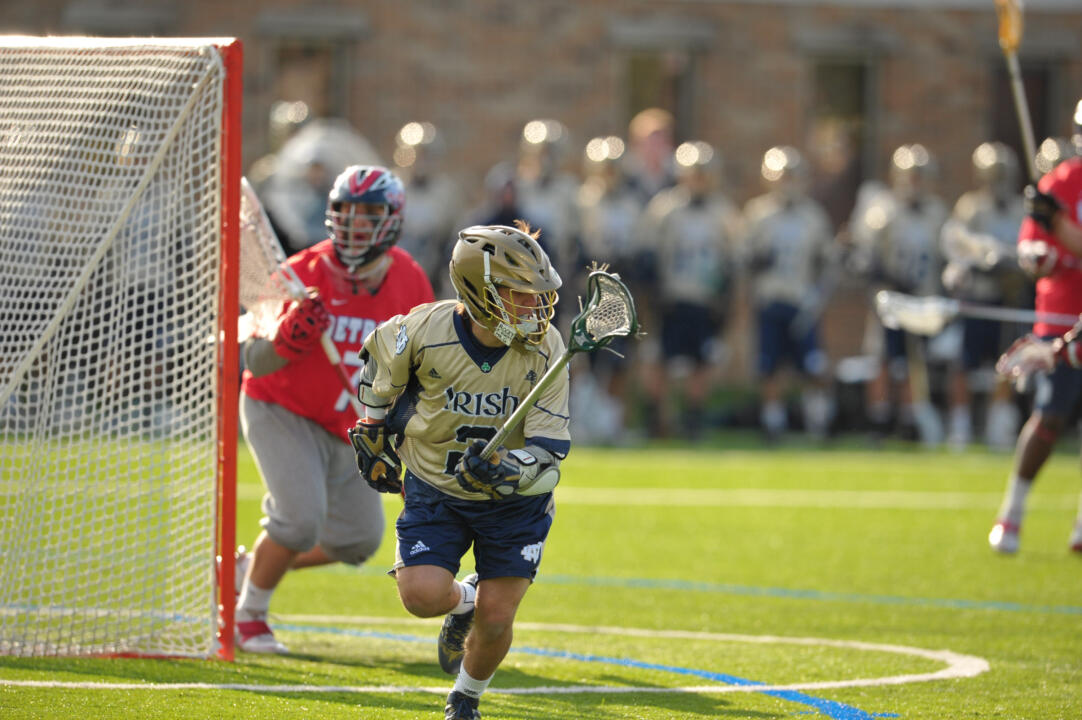 Senior attackman John Scioscia had three goals and an assist against the Pioneers.